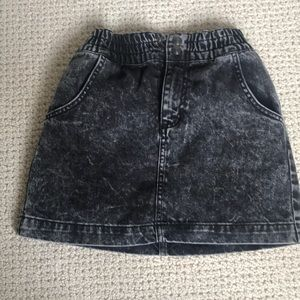 BDG urban outfitters grey washed denim skirt